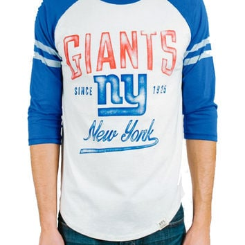 Junk Food Mens New York Giants All American Raglan