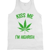 White Tank | Weed St. Patrick's Day Shirts