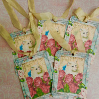 Cat Gift Tags Roses Cats Gift  Cat  Kitten Lover Tags