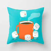 Cannonball Throw Pillow by Budi Satria Kwan