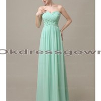 simple prom dress, mint prom dress, long prom dresses, chiffon prom dress, evening dress prom, prom dress 2014, cheap prom dress