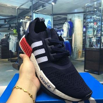 LMFUX5 Adidas Originals NMD R1 Blue Boost Sport Running Shoes Classic Casual Shoes Sneakers