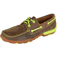 Women's Twisted X Neon Yellow Boat Shoe