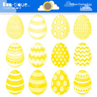 Easter Eggs Clipart. Easter Clip Art for Instant Download. Yellow Easter Egg Clip Art. Yellow Easter Egg Clipart. Easter Clipart. Easter Egg
