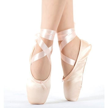 2017 Hot Child and Adult ballet pointe dance shoes ladies professional ballet dance shoes with ribbons shoes woman Free shipping