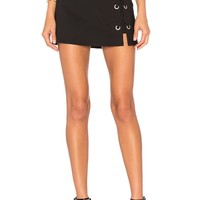by the way. Tori Lace Up Skirt in Black | REVOLVE