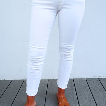 Life Is Beautiful Jeans: White