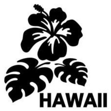 Hawaii Hibiscus Flower Car Automobile Car Window Decal Tablet PC Sticker Automobile Window Wall Laptop Notebook Etc. Any Smooth Surface