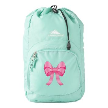 Cute Pink Bow Backpack