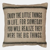 Primitives by Kathy 'Little Things' Linen Pillow   Nordstrom