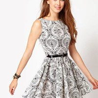 Club L Walpaper Print Dress at asos.com