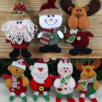LMFONHS Santa Claus Snow Man Doll Christmas Decorations Xmas Tree Gadgets Ornaments Doll Christmas Gift