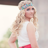 Neon Floral Twist Knot Turban Headband ALL