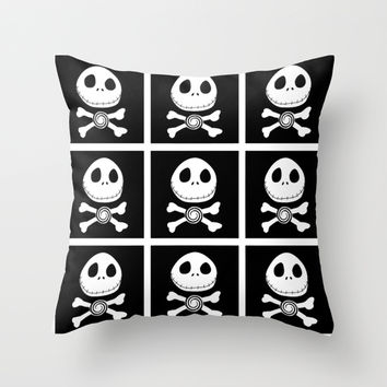 Jack skellington Throw Pillow by Hunterofwoods