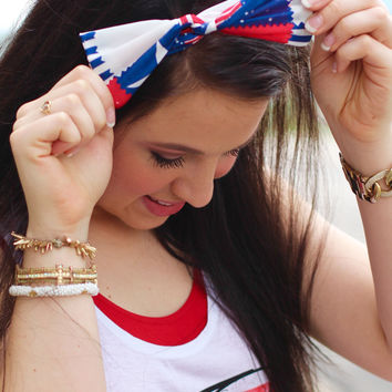 American Flag Twist Headband