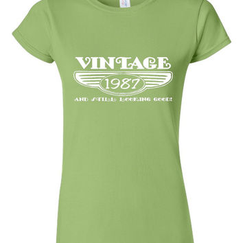 Vintage 1987 And Still Looking Good 28th Bday T Shirt Ladies Men Style Vintage Shirt happy Birthday T Shirt