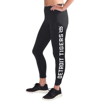 MLB Detroit Tigers Ladies Black Base Runner Leggings