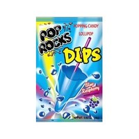 Pop Rocks Dips Candy Packs - Blue Raspberry: 18-Piece Box