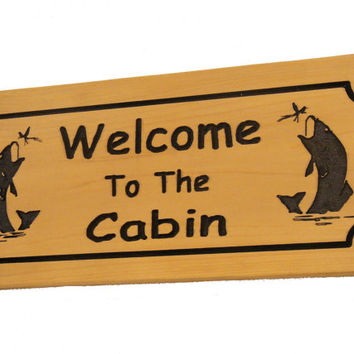 Wood Welcome Sign - Carved Welcome Sign - Carved Wood Sign