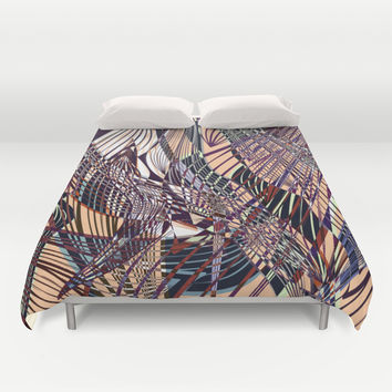 SWEEPING LINE PATTERN I Duvet Cover by Pia Schneider [atelier COLOUR-VISION]
