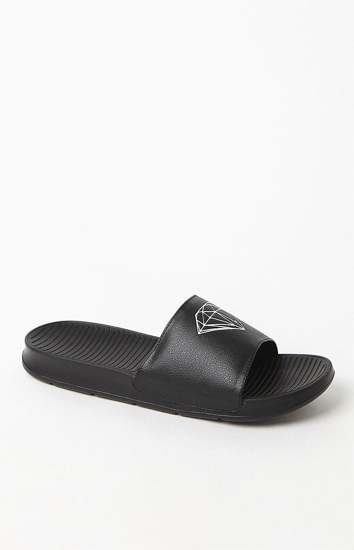 Diamond Supply Co Fairfax Black Slide Sandals - Mens Sandals - Black 9db5d1ccb