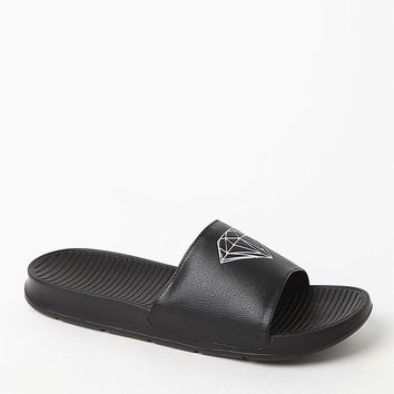Diamond Supply Co Fairfax Black Slide Sandals - Mens Sandals - Black