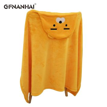 1pc Cute Kakao Friend cloak Plush toy Cape cloak with hat Dolls kawaii RYAN Apeach Plush Blanket Toys for Children Girl Xma Gift