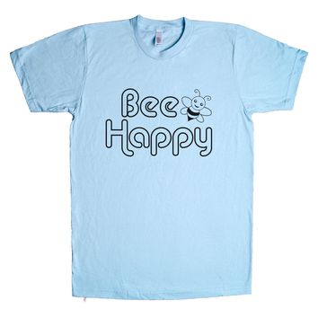 Bee Happy Unisex T Shirt