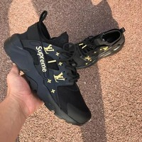 "SUPREME LV  ""NIKE""AIR Huarache Running Sport Casual Shoes Sneakers"