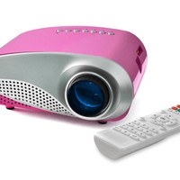 FAVI LED Movie and Game Projector for Kids - Pink (RioHD-LED-K1-P)