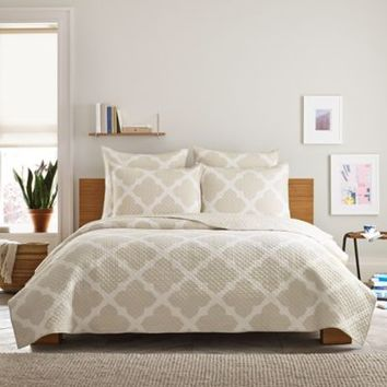 Real Simple® Bennett Pillow Sham in Taupe/Ivory
