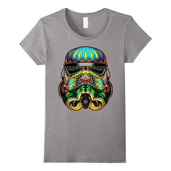 Star Wars Stormtrooper Ornate Sugar Skull Graphic T-Shirt C1