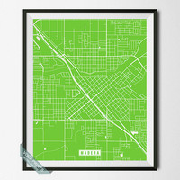 Madera Print, California Poster, Madera Poster, Madera Map, California Print, California Map, Street Map, Map Decor, Wall Art