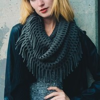 Chenille Fringe Infinity Scarves ( Available in several colors)
