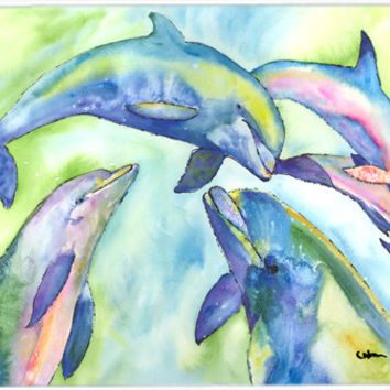 Dolphin  Kitchen or Bath Mat 24x36