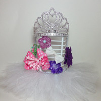 FREE SHIPPING, hair clip holder,hair bow holder, princess decorations, tutu decoration, hair bow stand, tiara, baby nursery decoration