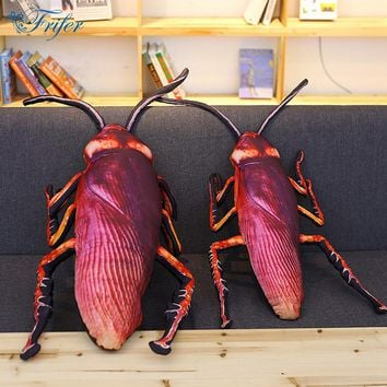 1pc  Simulation Cockroach Plush Pillows weird gift