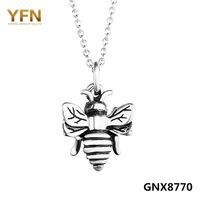 GoodDeal4Less Genuine 925 Sterling Silver Bumble Bee Charm Necklace Antique Silver Vintange Pendant Necklace For Women 18inches GNX8770