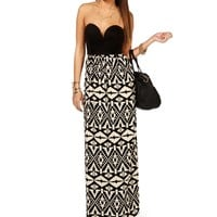 BlackTaupe Deep V Maxi Dress