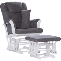 Walmart: Storkcraft Custom Tuscany Glider and Ottoman with Bonus Lower Lumbar Pillow, White/Gray