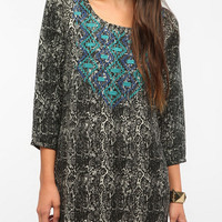Urban Outfitters - Ecote Graphic Embroidered Frock Dress