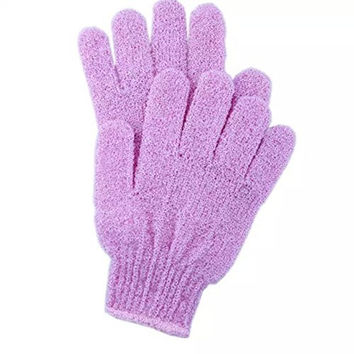 Cloth Mitt Exfoliating Face or Body Bath Scrub Gloves (1 Pair)