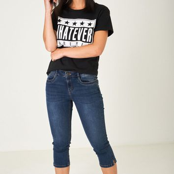 Crop Jeans in Washed