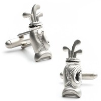 Plated Golf Bag Cuff Links