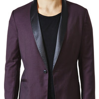 Mens - Outerwear - Hey Hey Shawl Collar Two-tone Suit Jacket