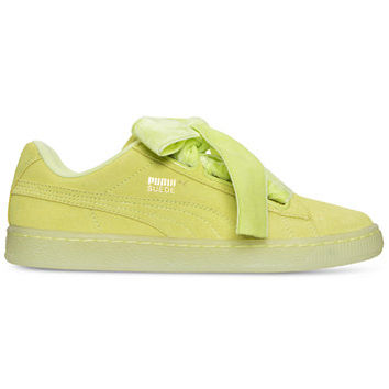 Puma Women's Suede Heart Reset Casual Sneakers from Finish Line | macys.com