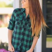 Always Ready Plaid Shirt - Green and Black