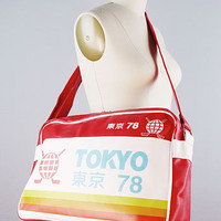 Red Tokyo Travel Bag | PLASTICLAND