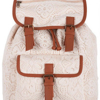 All Over Crochet Backpack
