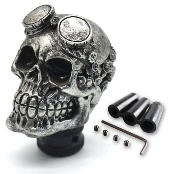 Skull Skulls Halloween Fall Universal Gear Shift Knob Car  Head Modification Shift Knob Gear Stick Car personality Gear Knob Modified With Glasses Calavera